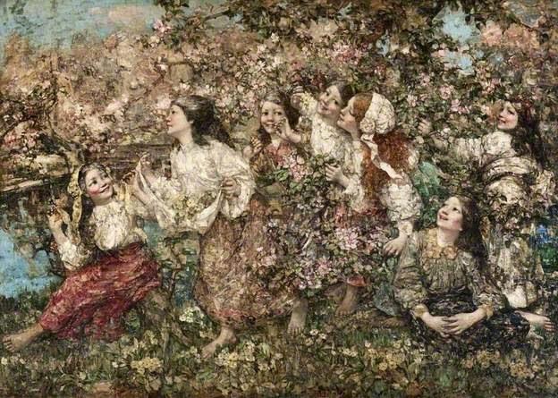 Edw. Atkinson Horner a spring raundlay 1910 Glasgow museums