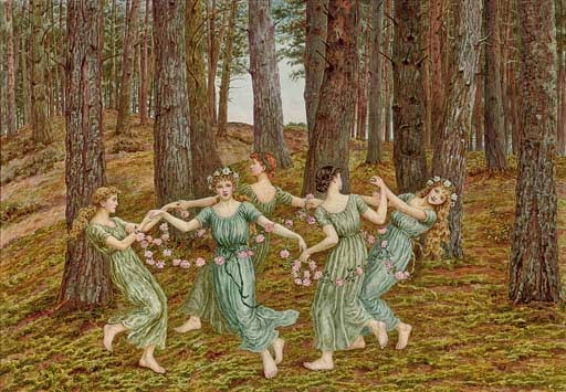 Kate Greenaway the flower dance